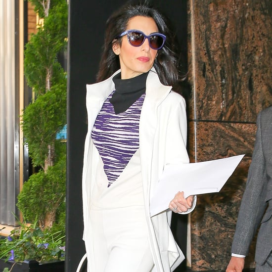 Amal Clooney White Suit April 2016