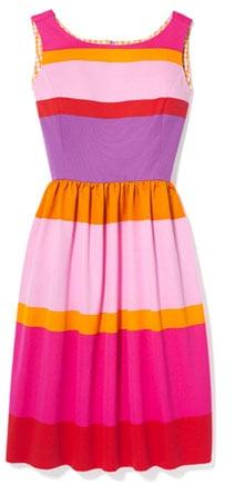 Fabworthy: Isaac Mizrahi Sunset Stripe Cotton Dress