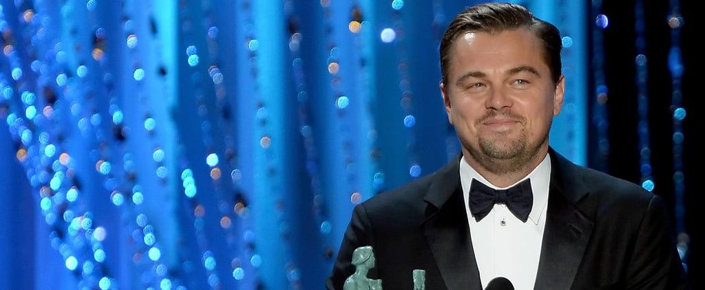 Watch Leonardo DiCaprio Win the SAG Award, Get One Step Closer to His Destined Oscar