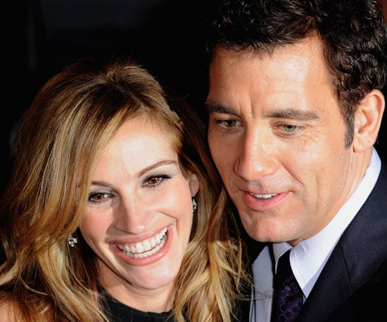 Photo of Julia Roberts and Clive Owen at the Paris Premiere of Duplicity