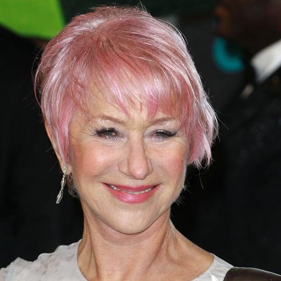 Helen Mirren New Pink Hair | BAFTA Awards 2013