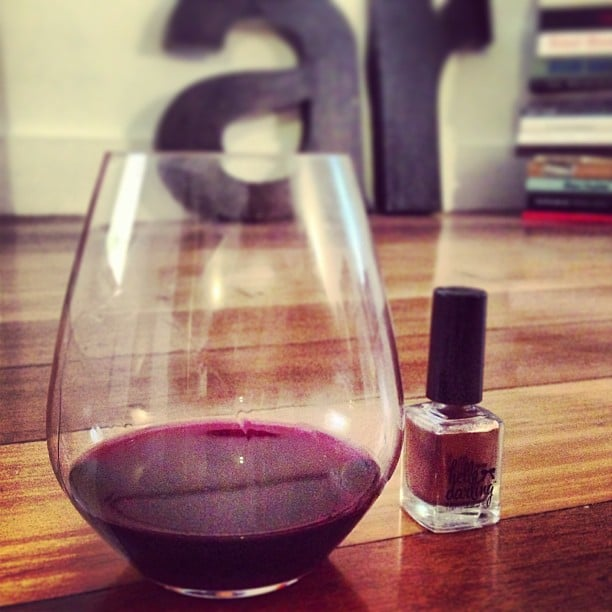 Our idea of a heavenly night in? A glass of red, a new polish and the palce all to ourselves.