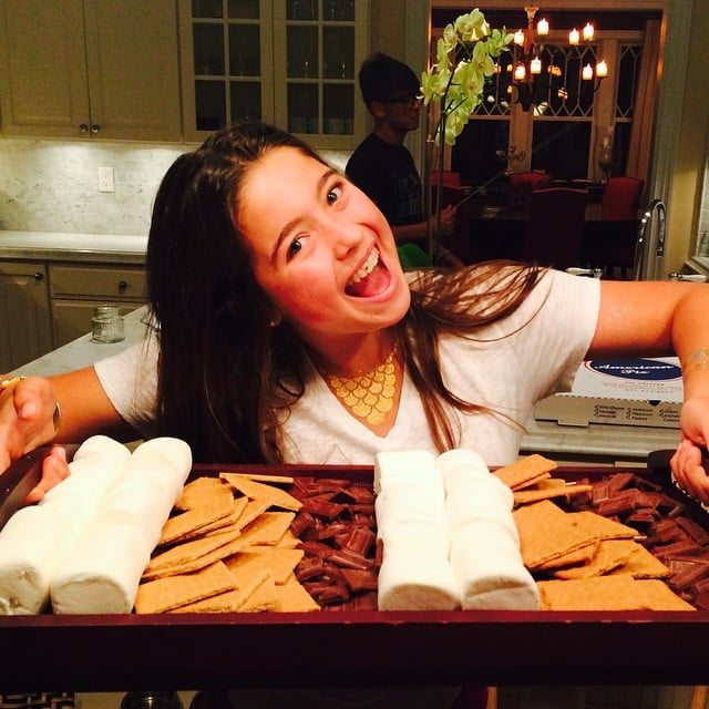Lola Consuelos was ready for s'mores while on vacation with her family.