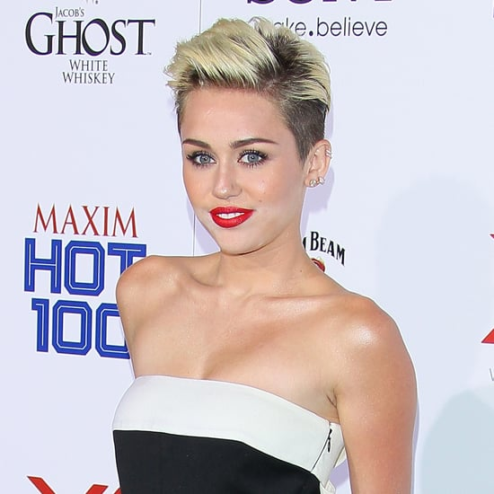 Miley Cyrus Wearing Engagement Ring at Maxim Hot 100 Party