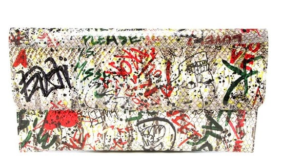 Carlos Falchi's Girl Graffitis His Bags