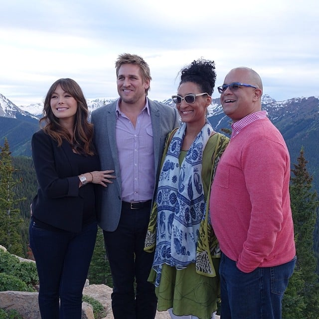 Curtis Stone and Carla Hall Posed at 11,000 Feet