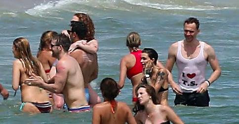 Robert Downey Jr. Gently Ribbed Tom Hiddleston's Taylor Swift Tank Top