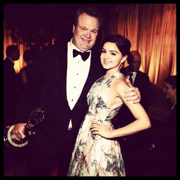 Ariel Winter posed with her Modern Family costar Eric Stonestreet at Fox's Emmys afterparty. Source: Instagram user arielwinter