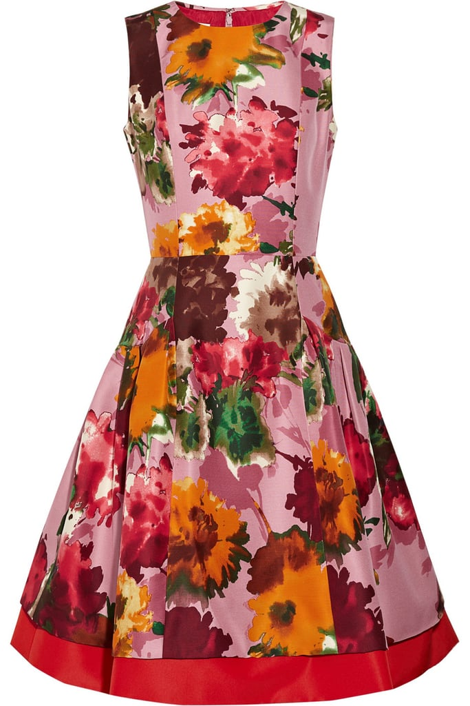 Oscar de la Renta for The Outnet floral silk-twill dress
