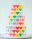 Colorful Heart Cake