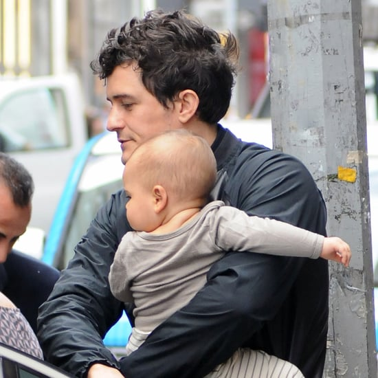 Orlando Bloom Carrying Baby Flynn Bloom in NYC Pictures