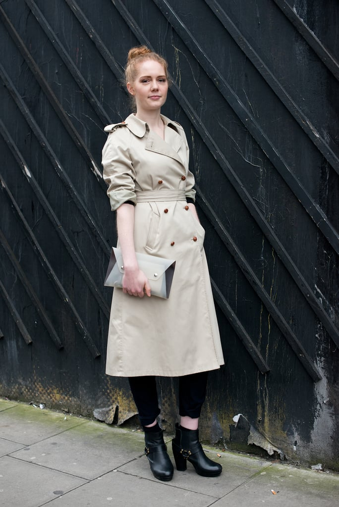 The shortcut to chic (as evidenced by this style)? Just top your look with a classic trench.
