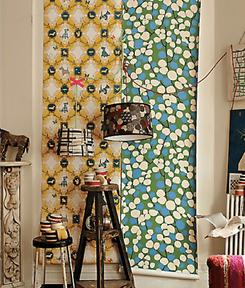 """When I asked this question on Facebook, Nancy declared """"DOGS!"""" as her choice. Is it yours? If so, get your hands on this Barking Mad Wallpaper ($108)."""
