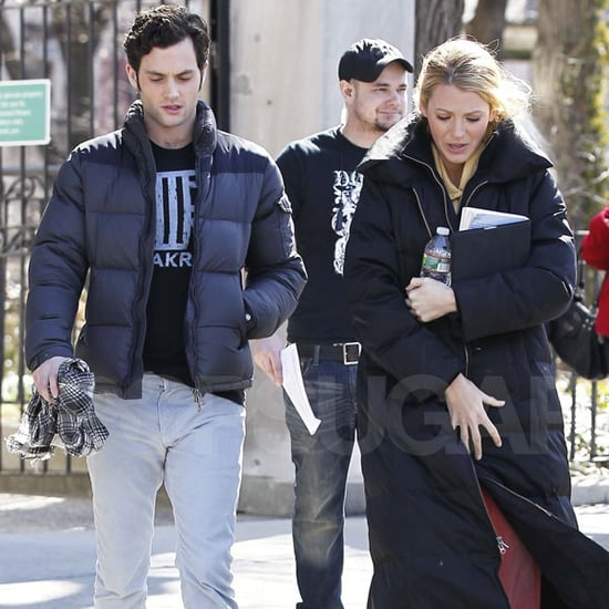Pictures of Blake Lively, Penn Badgley, Chace Crawford, Ed Westwick Filming Gossip Girl