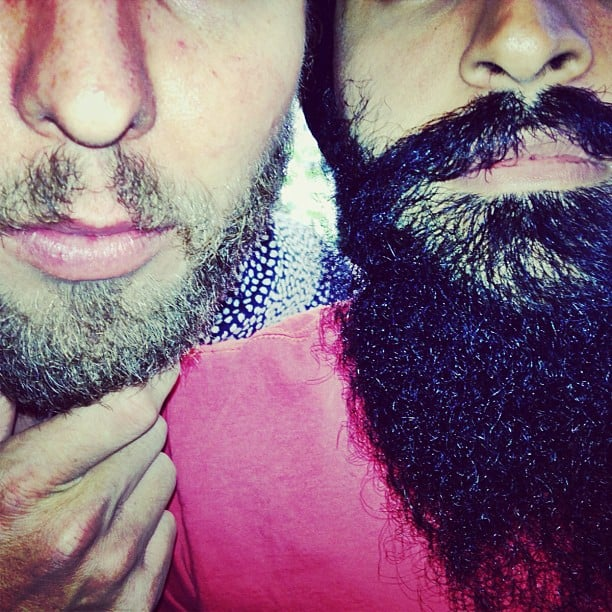 The scruffy Timo Weiland and Waris Ahluwalia showed off their respective beards in New York's West Village. Source: Instagram user timoweiland