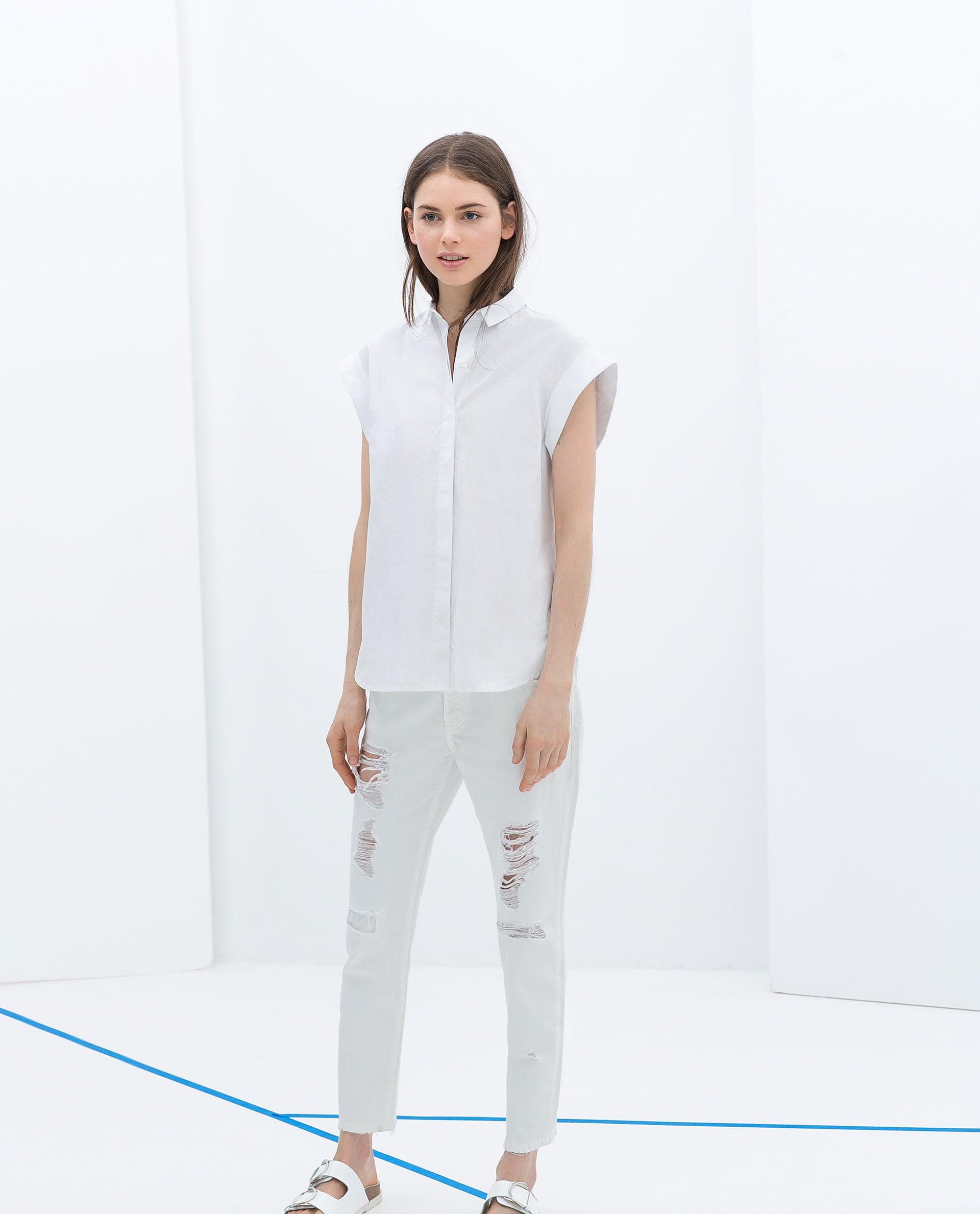 Zara Short-Sleeved Button-Down Shirt