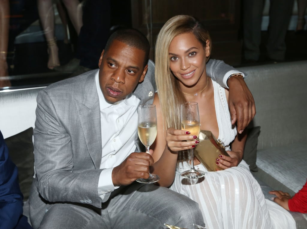 Beyoncé toasted Jay Z at the 40/40 Club anniversary party in NYC in June 2013.