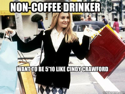 "PS: A defining career moment for us was when Cher referenced you in Clueless when she said, ""Duh, [coffee] might stunt my growth! I want to be 5'10"" like Cindy Crawford."" That pretty much solidified your status in pop culture as the biggest supermodel in the world. What was your reaction to that moment in the movie? CC:: I don't remember that! That's so funny! Wait, that was in Clueless? I've seen it, and I don't remember! I had no idea! I'll have to watch that again. PS: You were, in fact, the highest-paid model of your generation. Do you think you could've replicated that success in this decade? CC: I feel like I had to be in that one moment. Before my generation there were big models. There was Cheryl Tiegs, Christie Brinkley, and Carol Alt, but there wasn't a group. And after my generation there are huge models: Kate Moss, Amber Valletta, Gisele, and Coco Rocha, but there was something about that one moment where [the timing] was unique. I don't think I could've replicated that. And certainly with the way my body is, I would've had to go on a starvation diet today. I would've had to change who I was to fit today's mold. Now the models are a size 0. I can't even get a pair of size 0 pants up over my thighs! I always say the stars were in alignment for me. There was also a time [before me] when Hollywood actresses didn't really want to be glamorous because they felt like they wouldn't be taken seriously. And then my time happened at just the right moment. Source:"