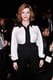 Christina Hendricks wore a classic black-and-white look for the Carolina Herrera runway show on Monday.