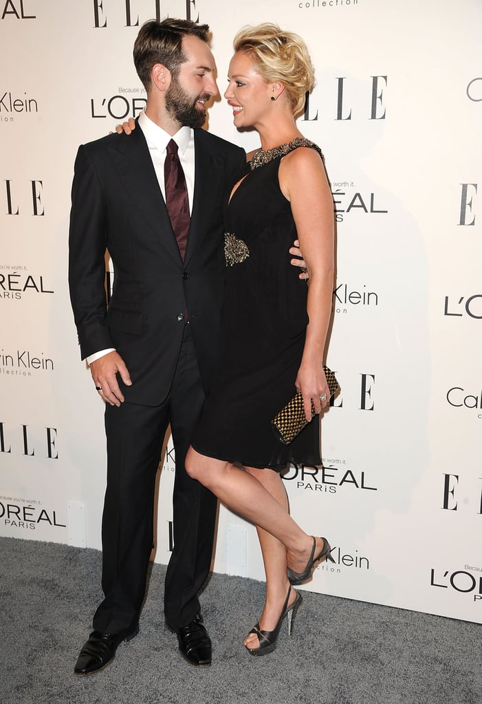 Katherine Heigl was affectionate with Josh Kelly at an event for Elle in LA.