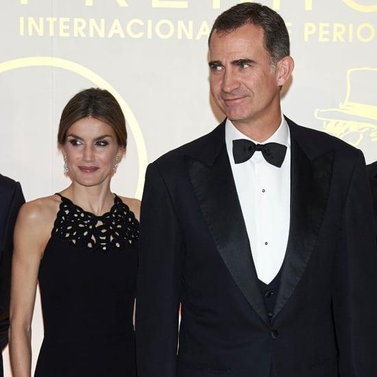 Queen Letizia and King Felipe in Black-Tie Attire Dec. 2015