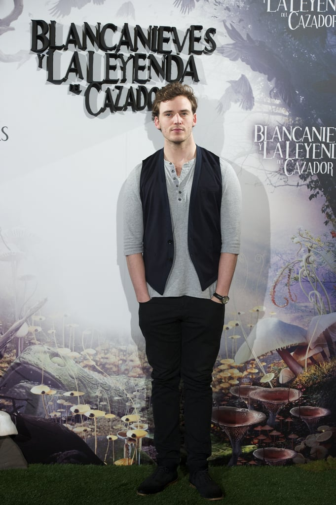 Sam Claflin attended the Snow White and the Huntsman photocall in Madrid.