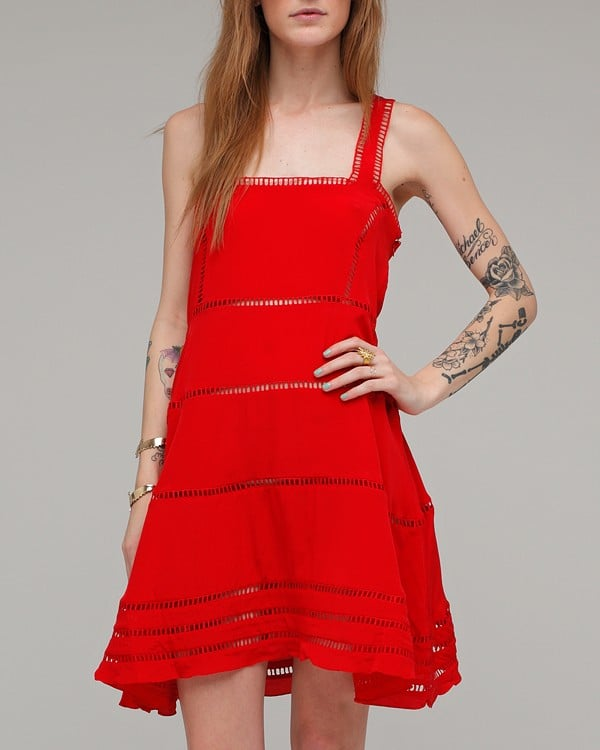 Opening Ceremony Ladder Trim Square Neck Dress ($210)