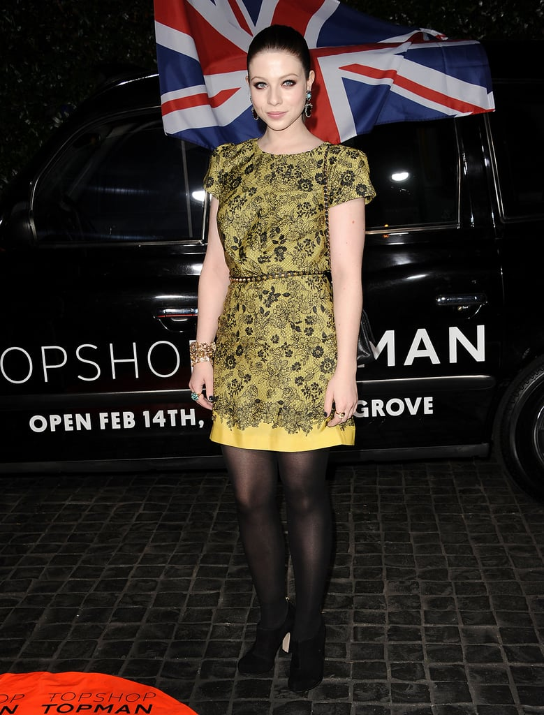 Michelle Trachtenberg wore a fun yellow dress.