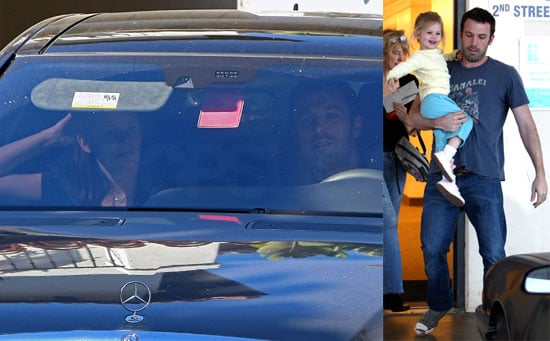 Photos of Ben Affleck and Violet Affleck Leaving Pre-School