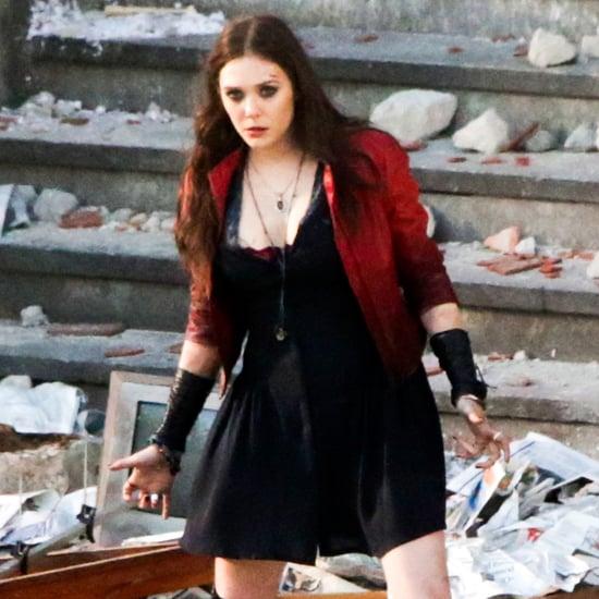 Elizabeth Olsen Filming The Avengers
