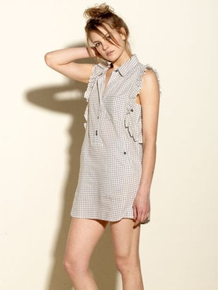 Quiksilver Gingham Shirt Dress