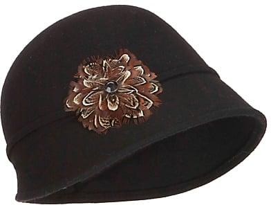 John Lewis Feather Embellished Cloche Hat, Black