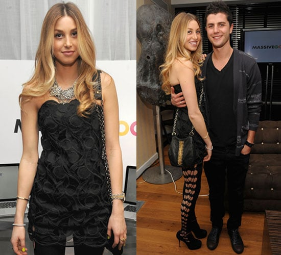 Whitney Port in Shredded Tights and Black Dress at Will.I.Am & Millennium Foundation Party in NYC