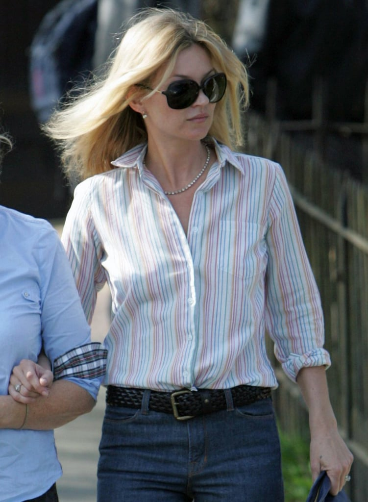 Kate Moss out in London.
