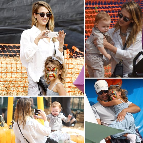 Jessica, Cash, and the Girls Spend a Fall Family Day Pumpkin Picking