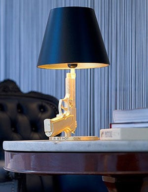 Love It or Hate It? Table Gun Lamp by Philippe Starck