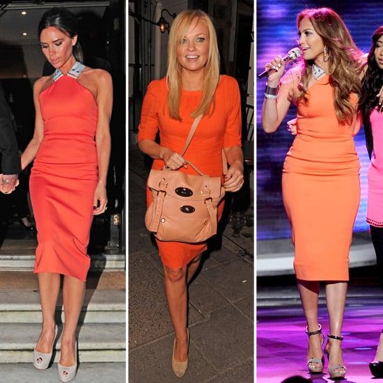 Shop Victoria Beckham Tangerine Dress Trend