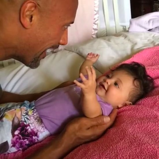Dwayne Johnson Playing With Daughter Jasmine Video August 20
