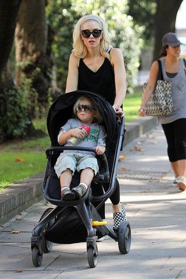 Gwen Stefani pushed Zuma through London Zoo on Sept. 28.
