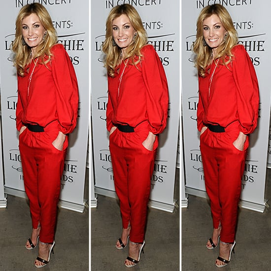 Faith Hill Red Jumpsuit