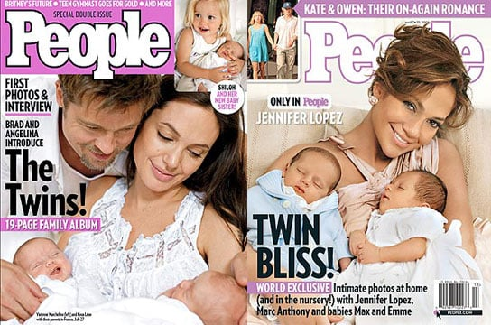 Angelina Introduces Twins in People