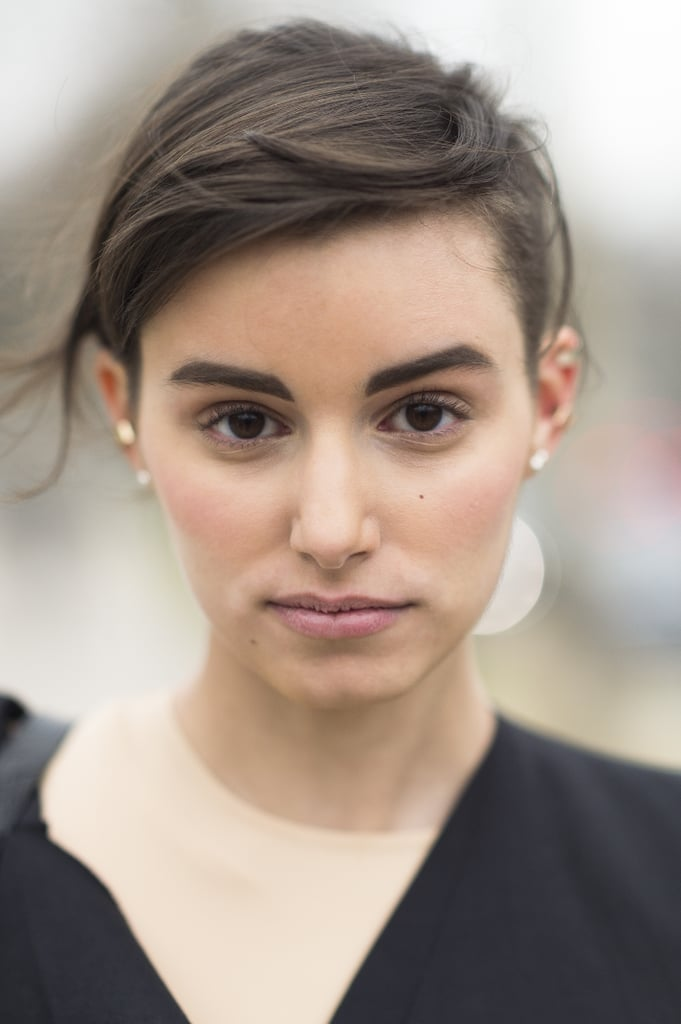 If you're looking for a fun way to update your bangs, then go for a swept-over look, like Anne-Catherine Frey's. Source: Le 21ème | Adam Katz Sinding