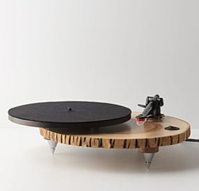Barky Turntable Hand Made From Wood and Glass