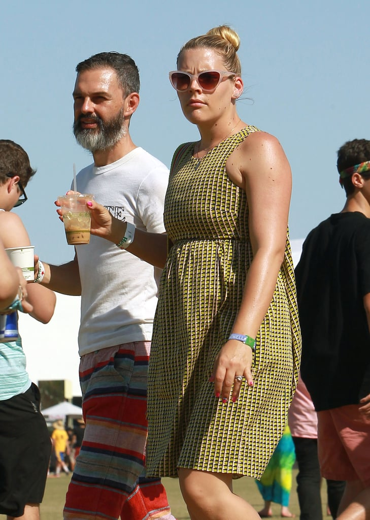 Busy Philipps and her husband cooled off with some cold drinks in 2014.