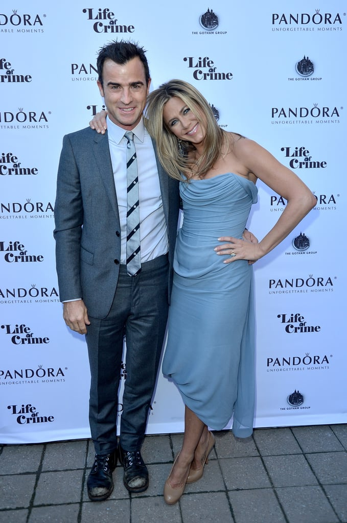 Justin was by Jennifer's side as she promoted Life of Crime at the Toronto Film Festival in September 2013.