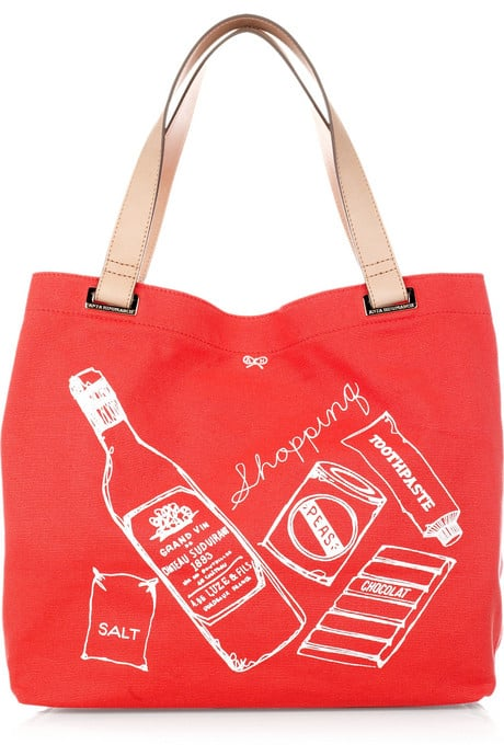 Anya Hindmarch Shopping Canvas Tote, approx $107 from Net-A-Porter
