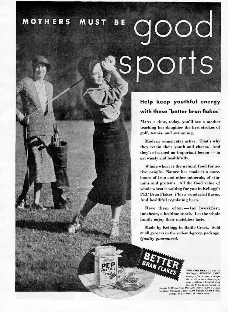 "Hey, listen to the ad: ""Modern women stay active."""