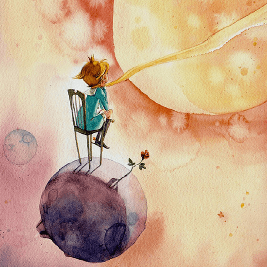 The Little Prince iPhone Wallpaper