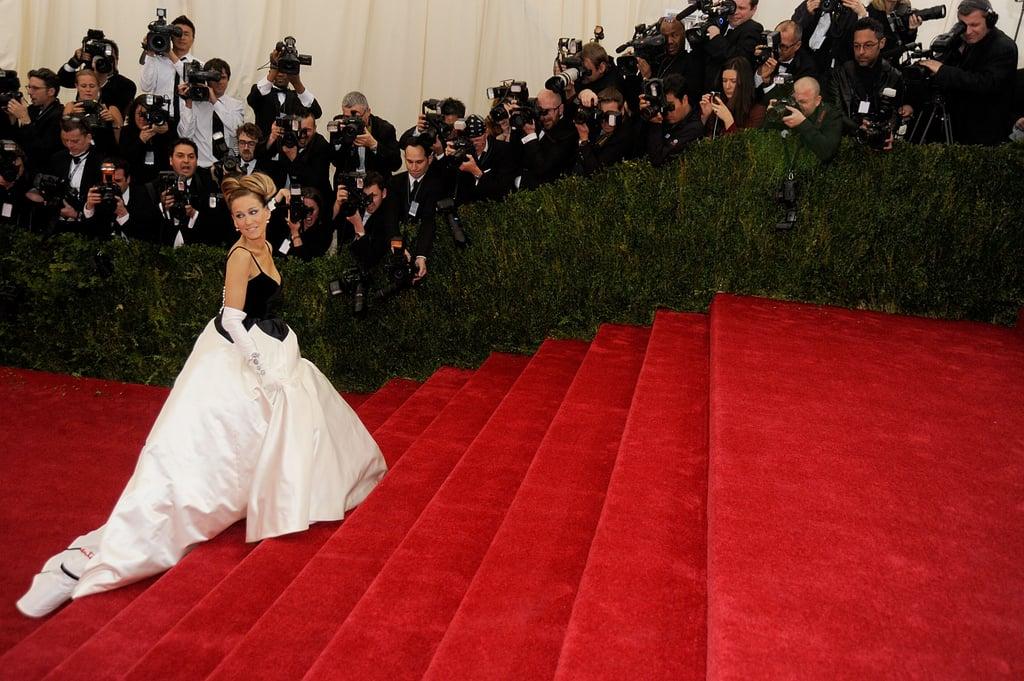 Sarah Jessica Parker made a dramatic entrance.