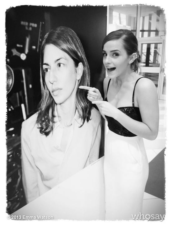 Emma Watson posed next to a poster of her Bling Ring director, Sofia Coppola, during the Cannes Film Festival. Source: Emma Watson on WhoSay